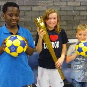 DKC Kids get a chance to hold the Olympic torch