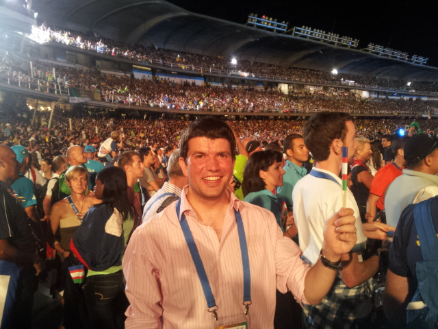 At the closing ceremony